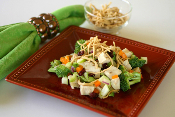 Crunchy chicken Asian salad