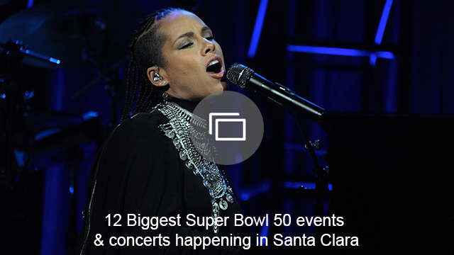 Super Bowl events slideshow