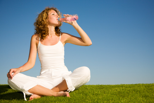 Woman Drinking Healthy Beverage