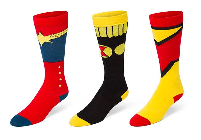 girl superhero knee high socks