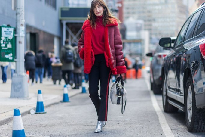 Perfect to Wear Shearling This Season | I'm red about it