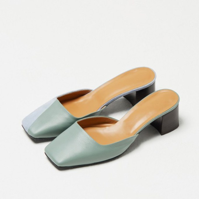 The Best Mule Shoe For Summer 2017: Recto Bicolor Square Toe Mule | Summer 2017 Accessories
