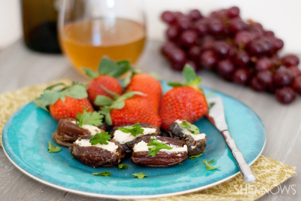 Sweet and savory stuffed dates recipe