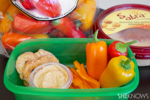 Peppers and hummus