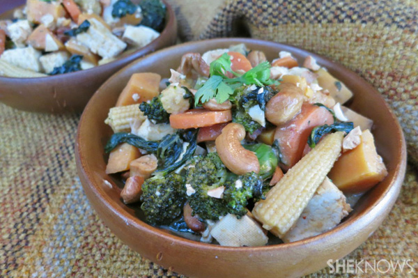Sweet potato cashew curry