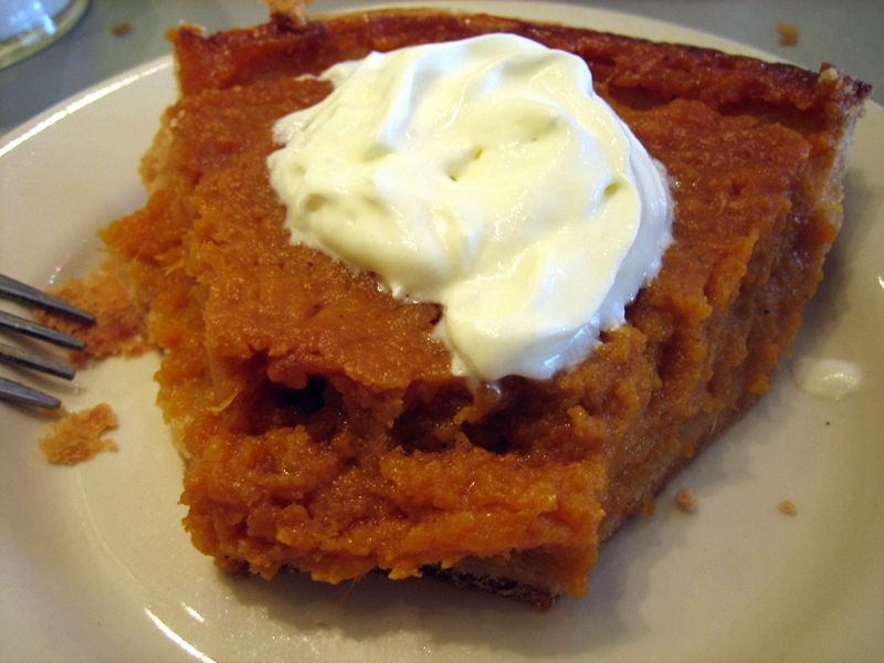 Bourbon sweet potato pie