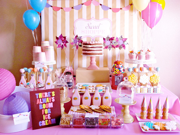 Sweet Shoppe Ice Cream Party