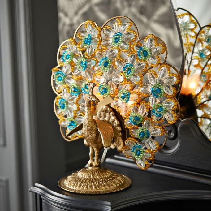 Anna Sui for PBteen: This ornate peacock lamp is a showstopper