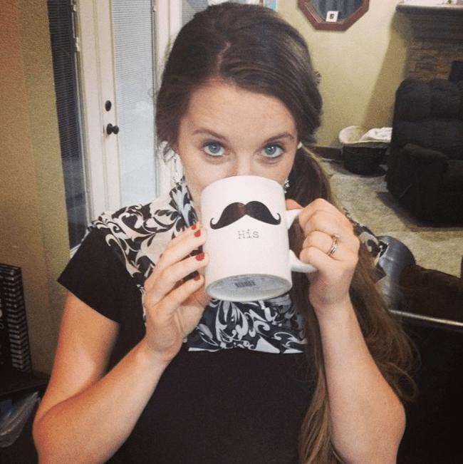 Jill Duggar drinking coffee