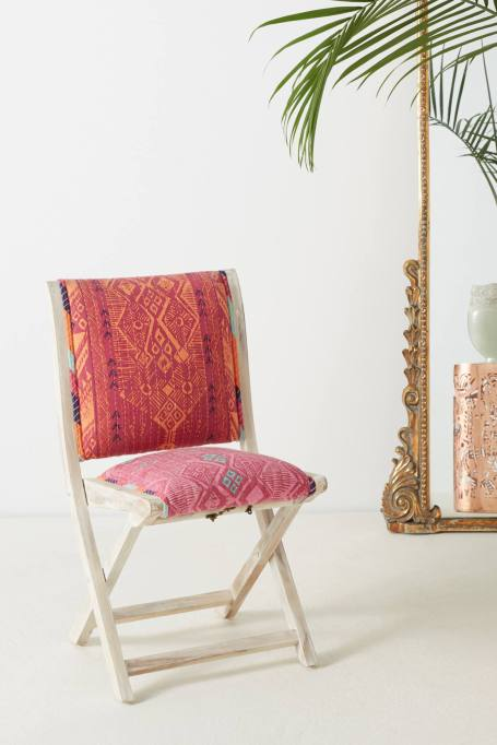 Modern Southwestern Decor: This patterned chair as a pop of color to your room