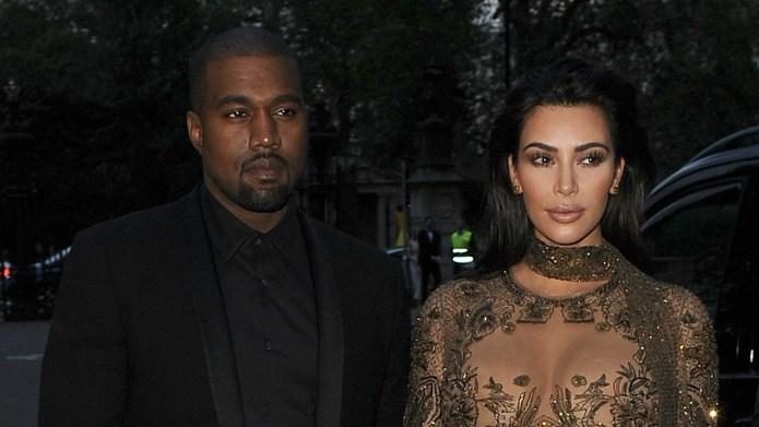Kim Kardashian and Kanye West leave