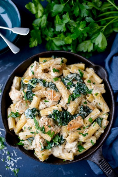Rescue Overcooked Meat: Creamy alfredo sauce helps mask dry or overcooked meat