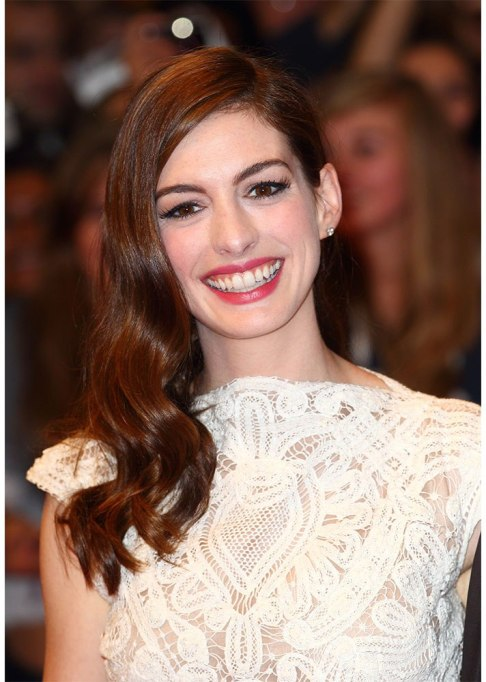 Dramatic Celebrity Hair Makeovers | Before: Anne Hathaway