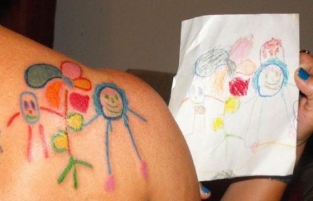 Family portrait tattoo