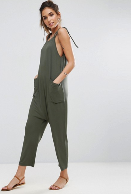 Jumpsuits You Need in Your Closet | ASOS Jersey Minimal Jumpsuit with Ties