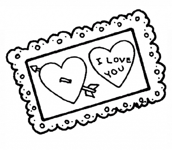 Valentine's Day Coloring Pages: Card