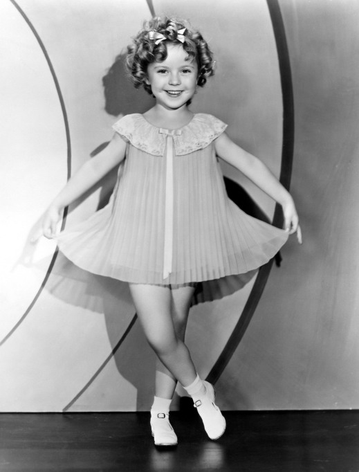 Shirley Temple portrait in an accordion dress