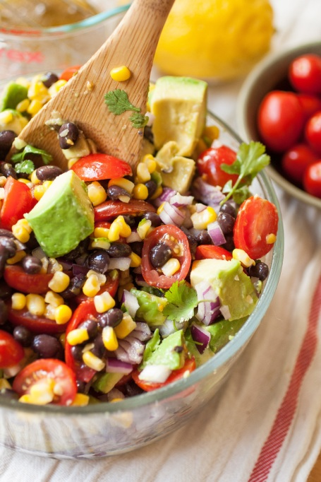Summer corn, avocado and black bean salad from Produce on Parade