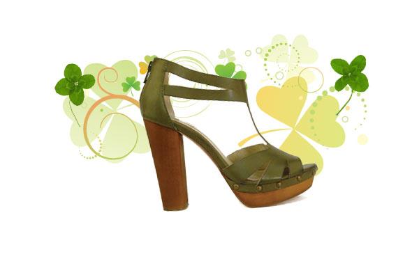 dark green chant shoe
