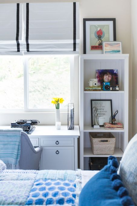 How to Decorate Small Spaces: Neutrals help to visually declutter small rooms.