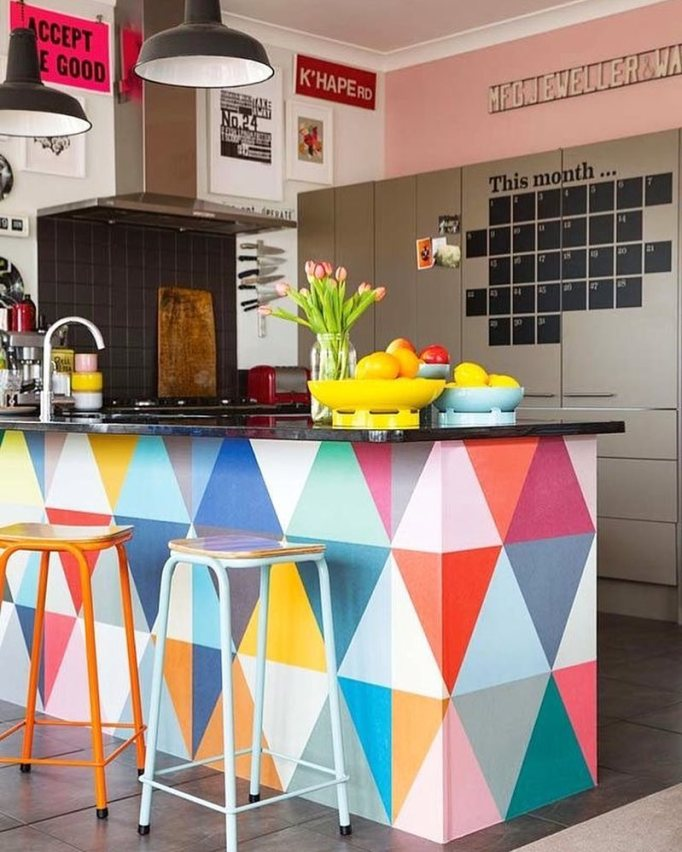 Colorful Patterned Island
