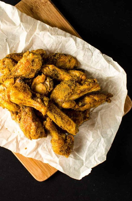 Brown sugar-curry chicken wings