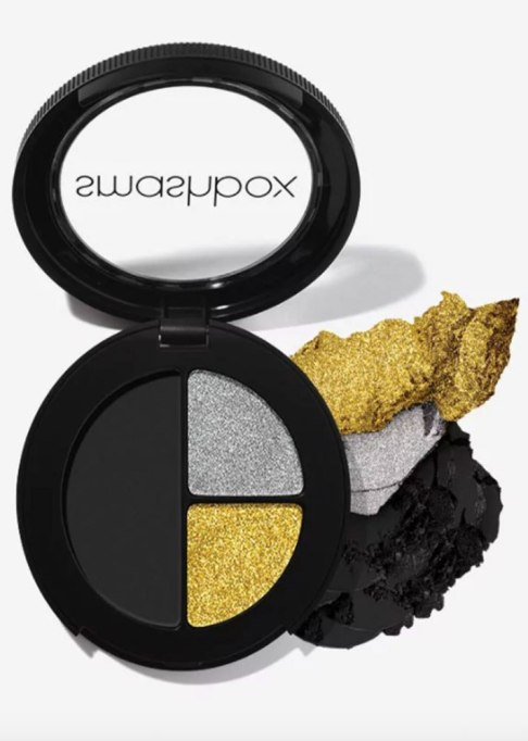Makeup for Your Eye Color | Smashbox Photo Edit Eye Shadow Glitter Trio in Total Scene