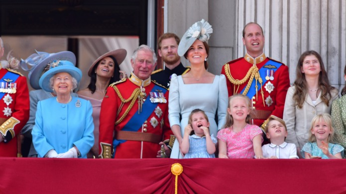 Queen Elizabeth II and her family