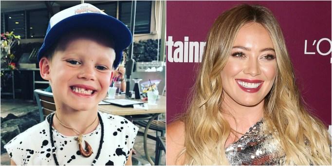 Celeb Lookalike Kids Luca Comrie Hilary Duff