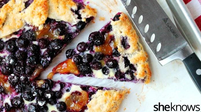 Rustic blueberry, lemon and ricotta galette