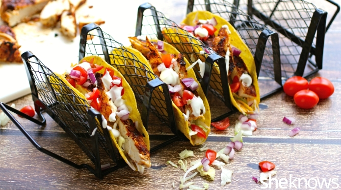 Cajun-spiced chicken tacos give your meal