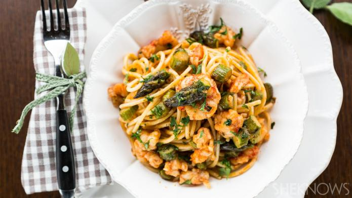 Simply delicious: Spaghetti with harissa-spiced shrimp