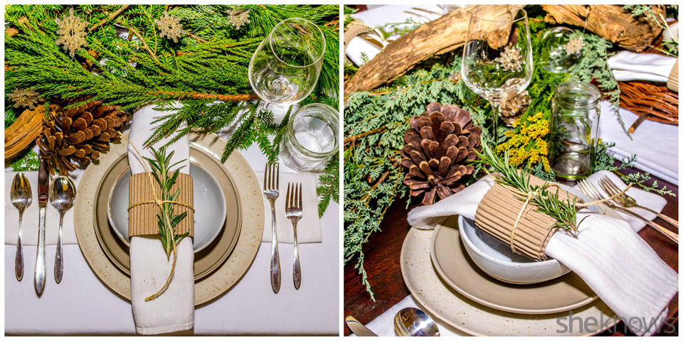 Rustic holiday table setting: Place setting | Sheknows.com