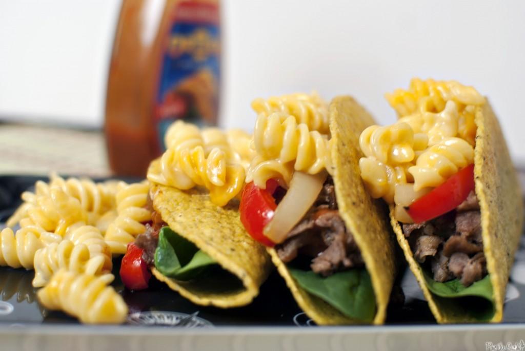 Taco mac and cheese steaks