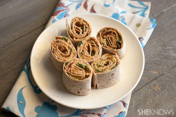 Easy taco pinwheel roll-ups