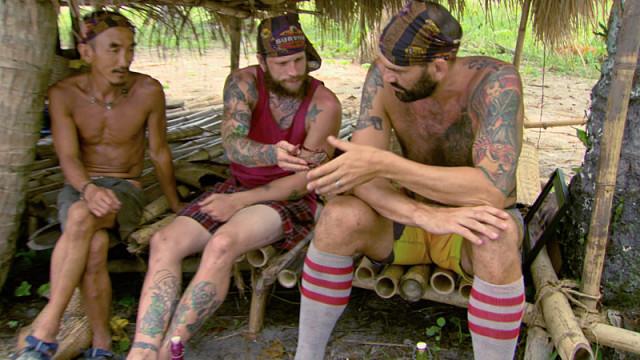Tai Trang, Kyle Jason and Scot Pollard on Survivor: Kaoh Rong