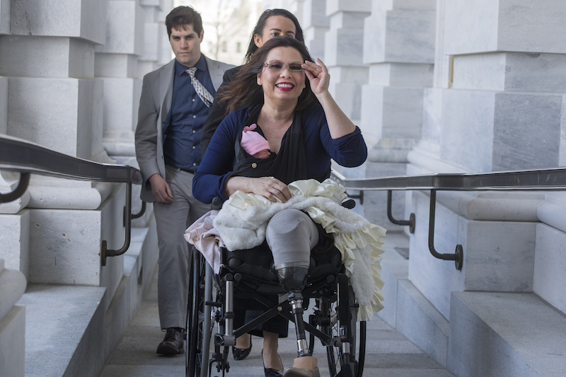 Tammy Duckworth brings baby to work
