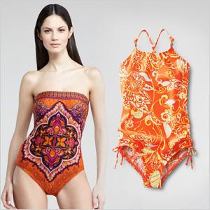 Tangerine swimwear