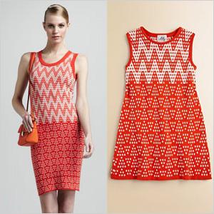 Tangerine print dresses