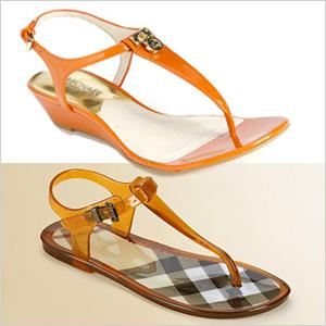 Tangerine shoes