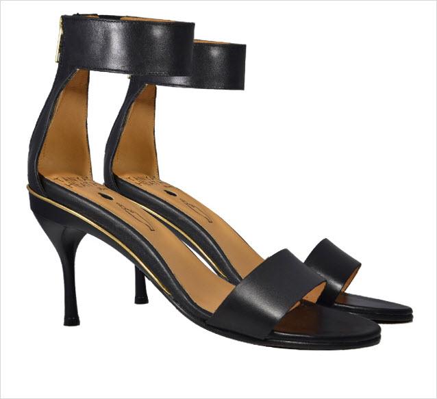 Tanya Health black strappy sandals