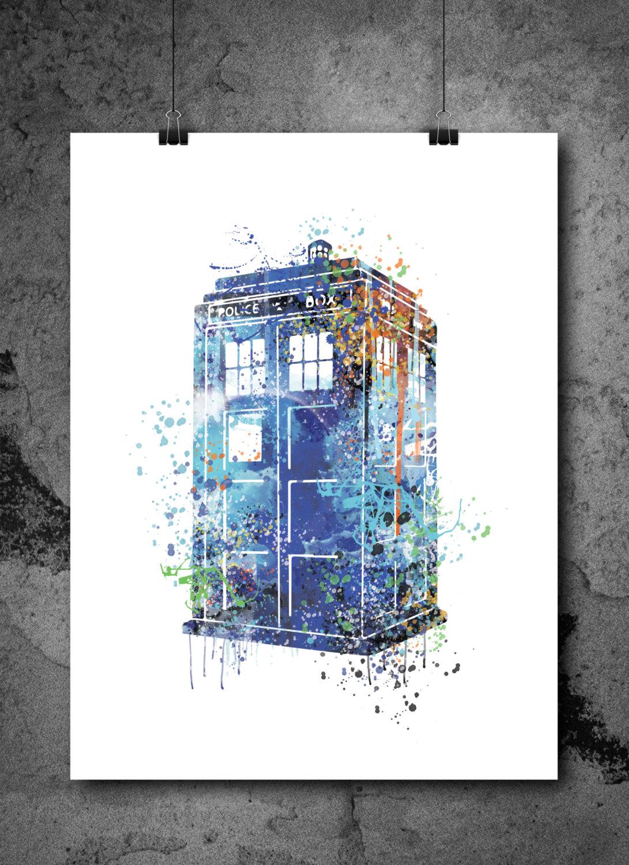 TARDIS-inspired prints