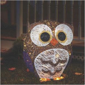 LED Glitter owl