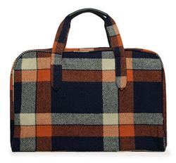 Tartan travel bag