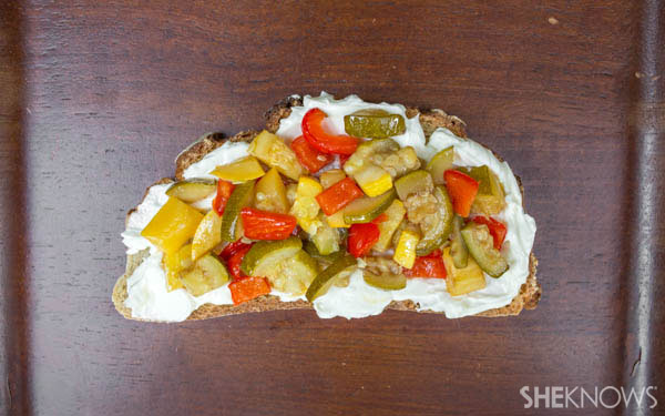 Summer vegetable tartine