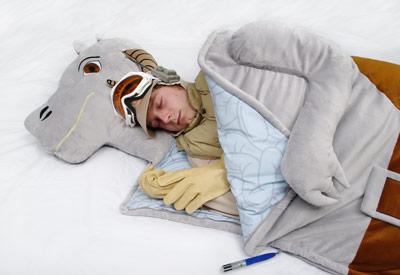 Star Wars Tauntaun carcass sleeping bag