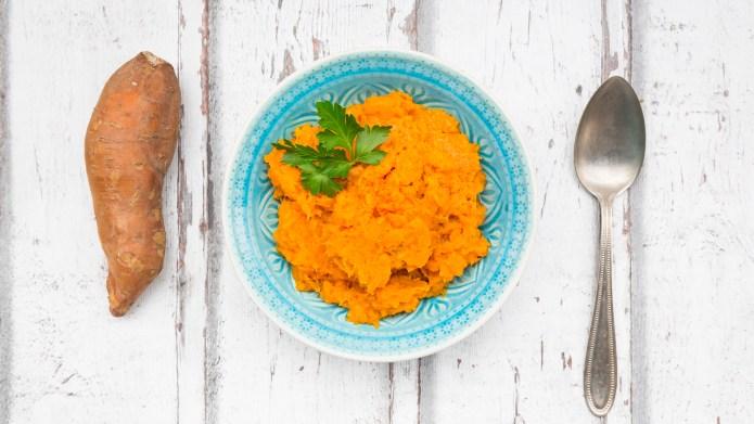 selbstgemachter Süßkartoffelbrei/püree