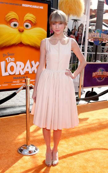 Tayor Swift at Lorax premiere
