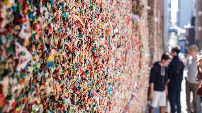 Wall of Gum in Seattle