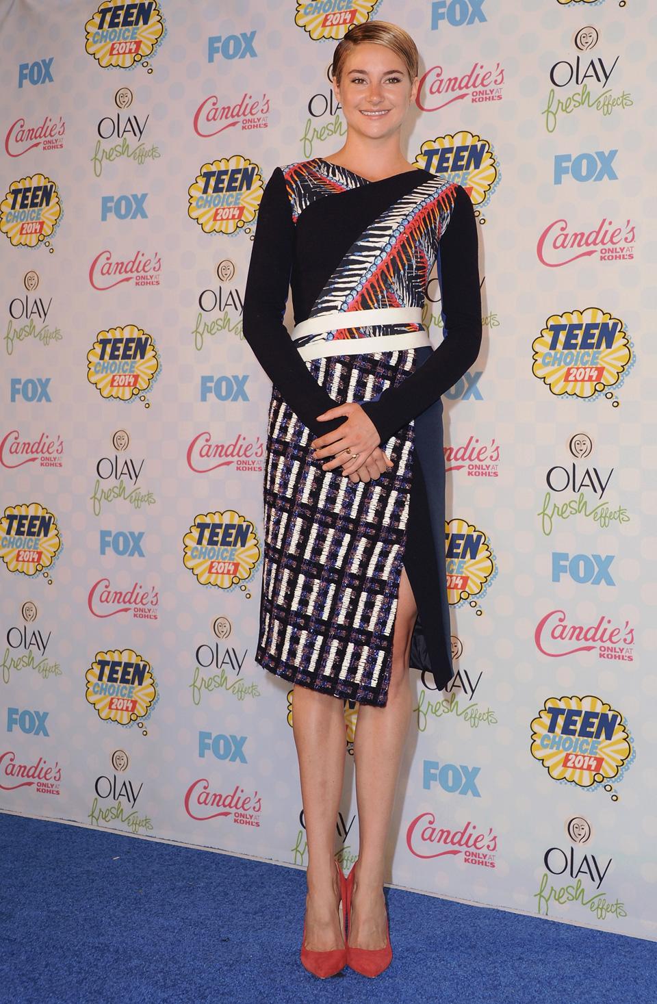 Shailene Woodleyat the 2014 Teen Choice Awards